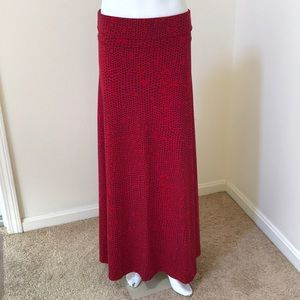 Lularoe Small Red Combo maxi skirt
